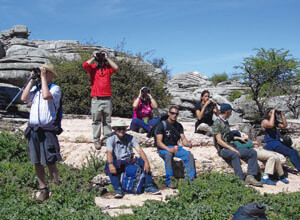 a group of birders in el torcal de antequera